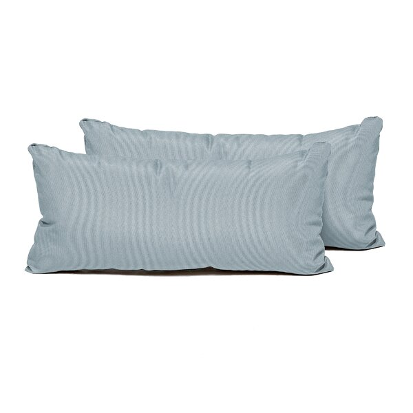 SPA Indoor/Outdoor Lumbar Pillow (Set of 2) by TK Classics