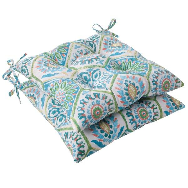 Burkburnett Indoor/Outdoor Seat Cushion with Ties (Set of 2)