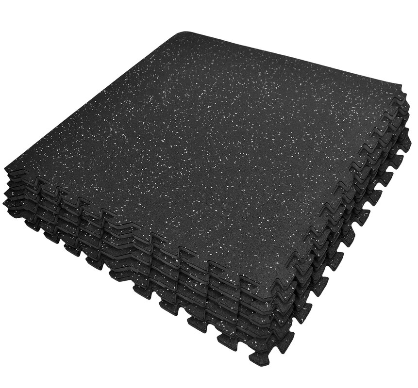 Sivan Interlocking Rubber Gym Tile Puzzle Exercise Mat