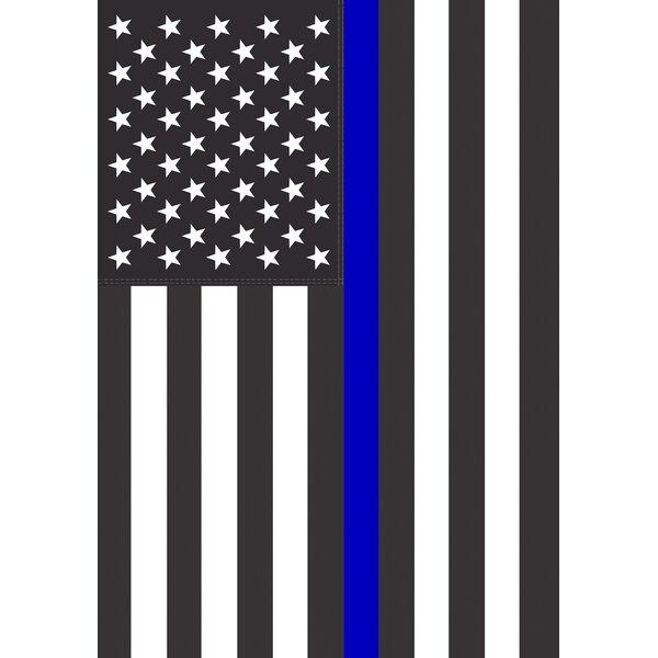 Thin Blue Line USA Garden flag by Toland Home Garden