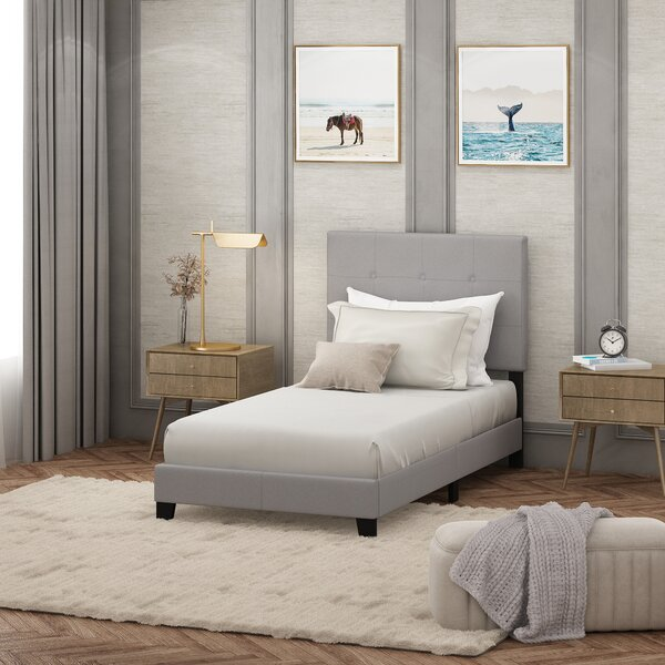 Kaniel Button Tufted Upholstered Platform Bed by Andover Mills