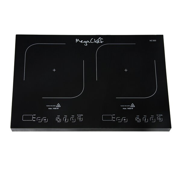 Portable Dual Induction 21 Electric Cooktop with 2 Burners by Mega Chef