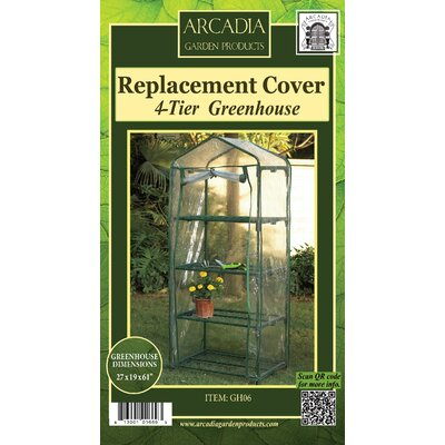 Mini Greenhouse Replacement Cover Arcadia Garden Products Size: 4-Tier