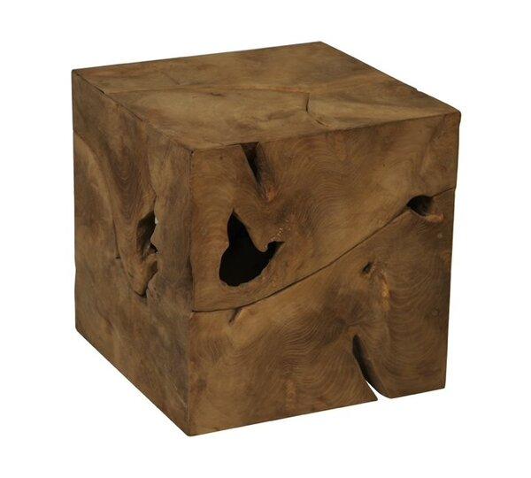 Teak Root Cube End Table by IKsunTeak