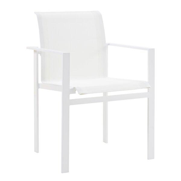 Santistevan Stacking Patio Dining Chair (Set Of 2) By Orren Ellis