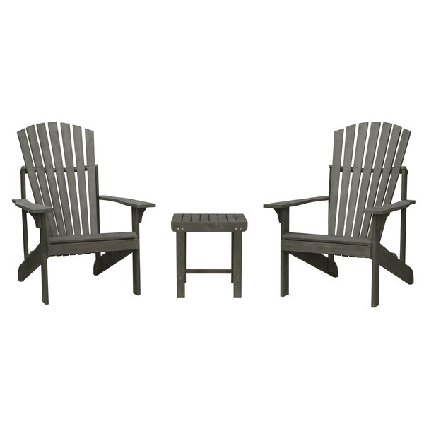 Amabel Patio Wood 3 Piece Seating Group