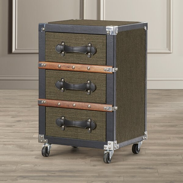 Jemma 3 Drawer Rolling Chest by Williston Forge