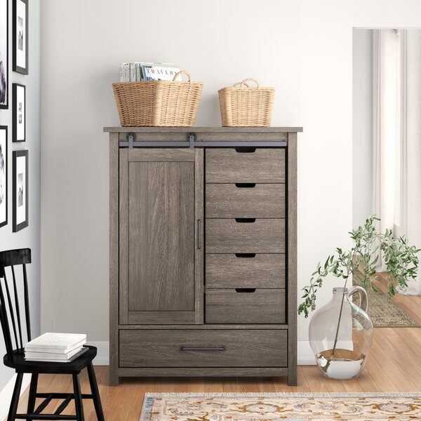 Bartow 6 Drawer Combo Chest by Three Posts