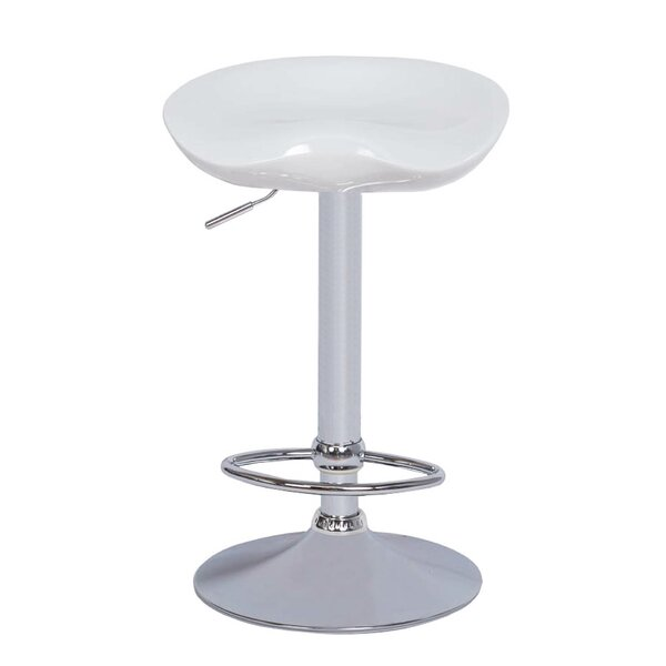Cuthbert Adjustable Height Swivel Bar Stool by Orren Ellis