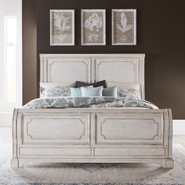 Corona Sleigh Bed by One Allium Way