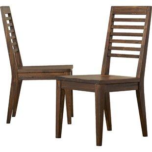 Worden Solid Wood Dining Chair (Set of 2) by Loon Peak
