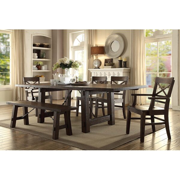 Best #1 Anteus Trestle Dining Table By Gracie Oaks Comparison