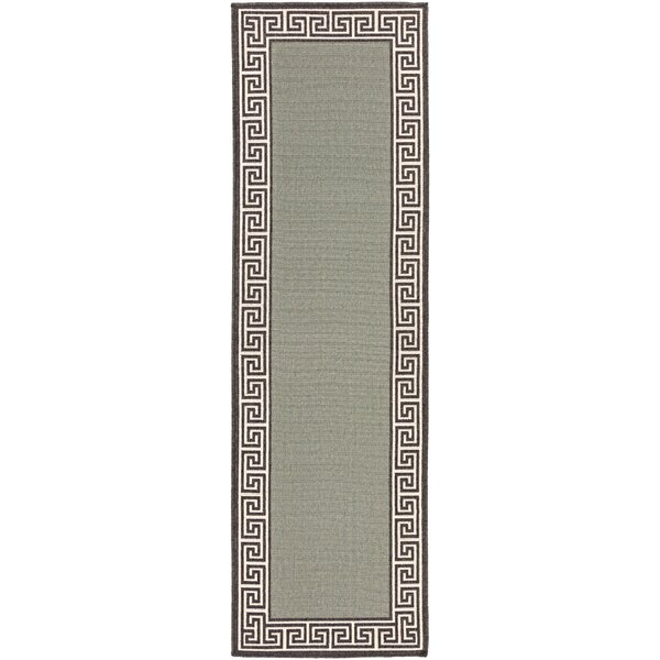 Pearce Moss/Green Indoor/Outdoor Area Rug by Charlton Home