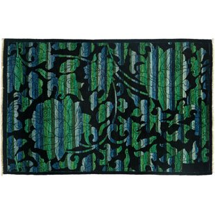 Great choice One-of-a-Kind Arts and Crafts Hand-Knotted Black Area Rug By Darya Rugs