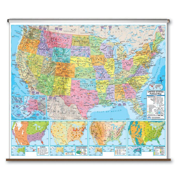 Advanced Political Map - United States