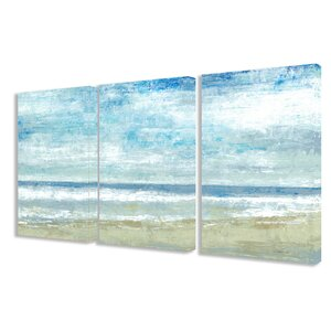 'Golden Sands' 3 Piece Painting Print on Canvas Set by Stupell Industries