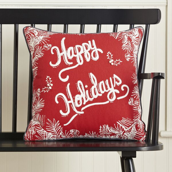 Happy Holidays Greetings Pillow Cover by Birch Lane™