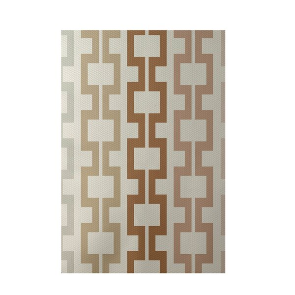 Geometric Off White Indoor/Outdoor Area Rug by e by design
