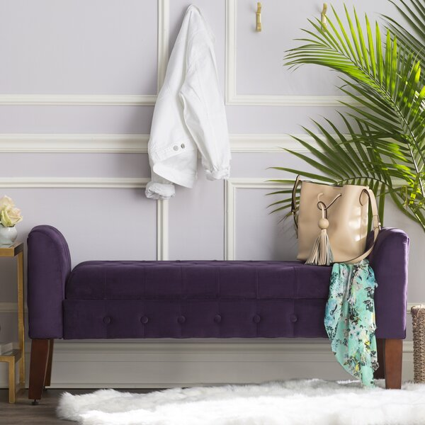Maple Ridge Upholstered Storage Bench by Three Posts