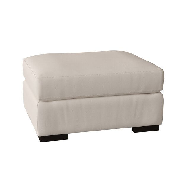 Discount Germain Leather Ottoman