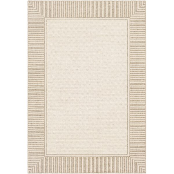Oliver Camel/Cream Indoor/Outdoor Area Rug by Bay Isle Home