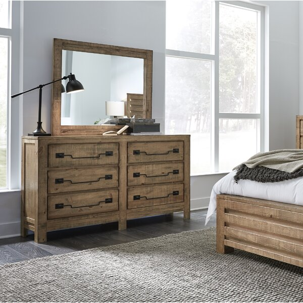 Windsor 6 Drawer Double Dresser with Mirror by Gracie Oaks