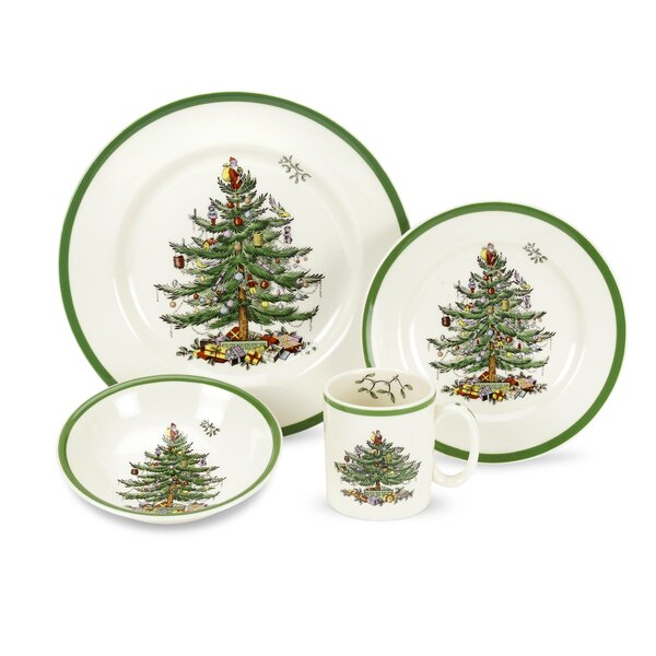 Christmas Tree 4 Piece Place Setting, Service for 1 by Spode