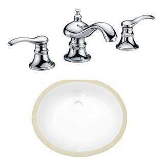 Where buy  CSA Ceramic Oval Undermount Bathroom Sink with Faucet and Overflow By American Imaginations