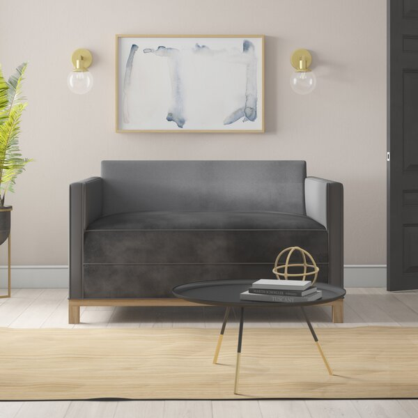 Lore Plush Deep Loveseat by Mercury Row