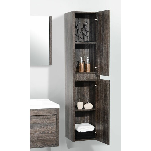 Rosas 15.7 W x 69.3 H Wall Mounted Cabinet by Wrought Studio