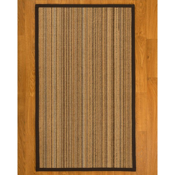 Dover Hand Woven Fiber Sisal Brown/Fudge Area Rug by Bay Isle Home
