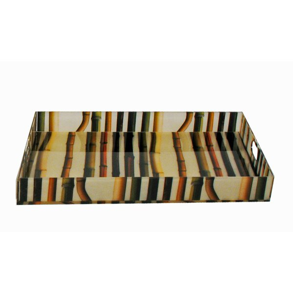 Bamboo Accent Accent Tray by Oggetti