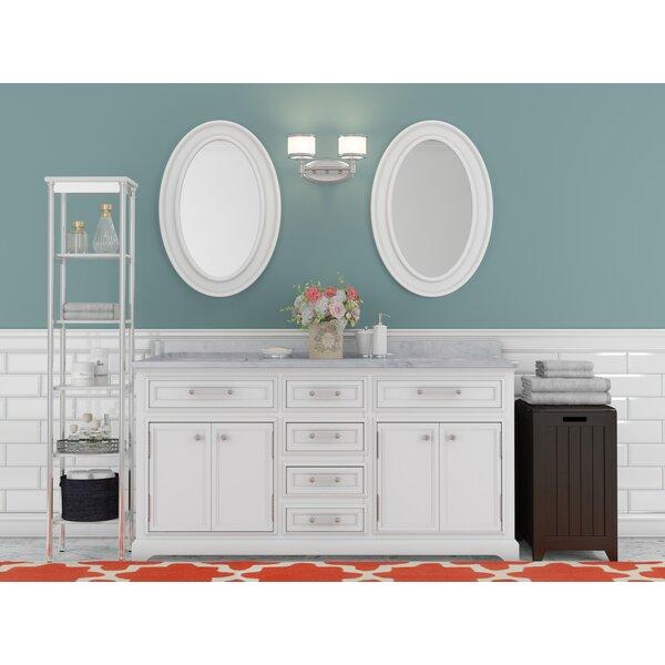 Bergin 60 W Double Sink Bathroom Vanity Set with Mirror by Three Posts