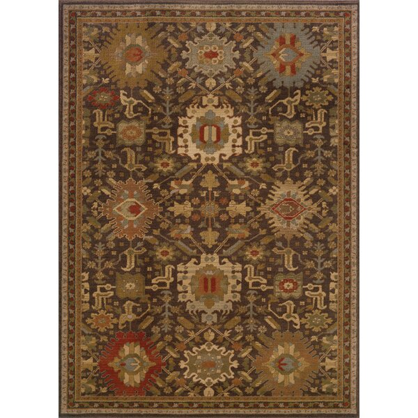Dewolf Brown Area Rug by Charlton Home