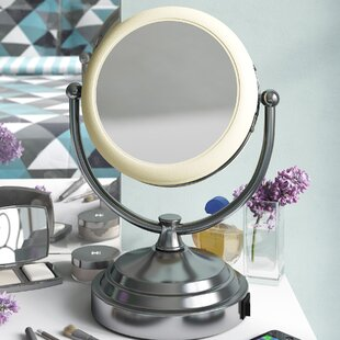 8x/1x Lighted Vanity Mirror By Symple Stuff
