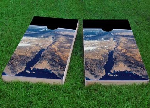 Earth from Space Cornhole Game (Set of 2) by Custom Cornhole Boards
