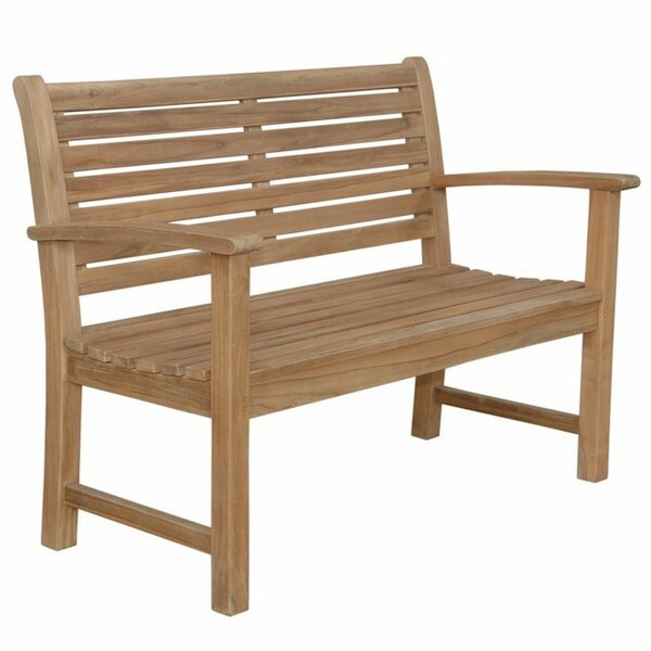 Noe 2-Seater Teak Garden Bench by Bay Isle Home