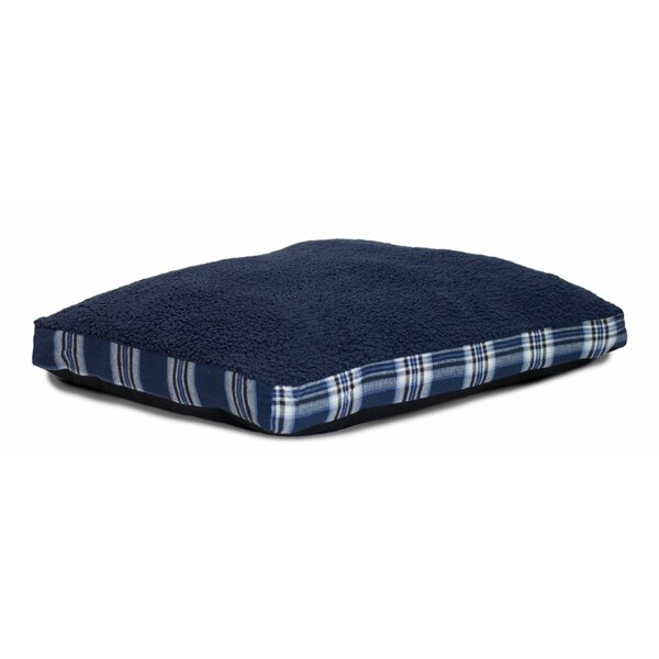 Evie Faux Sheepskin and Plaid Deluxe Dog Pillow by