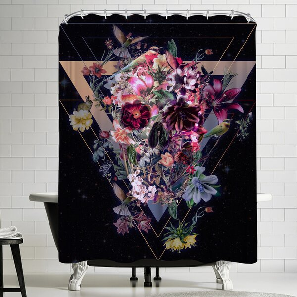 Ali Gulec New Skull S6 V Shower Curtain by East Urban Home