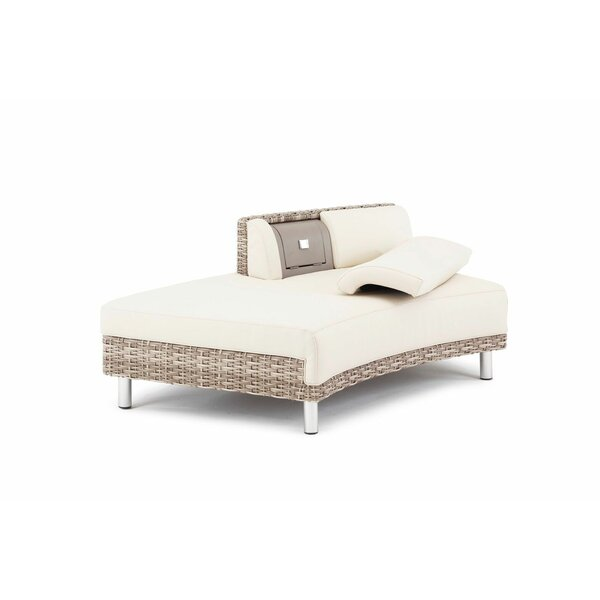 Keyone Modular Right Facing Half Back Patio Daybed with Cushion by Brayden Studio