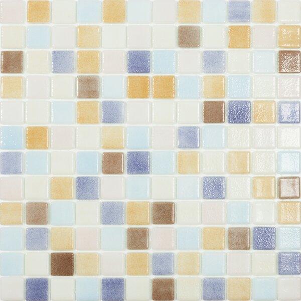 Beach Pastel 1 x 1 Glass Mosaic Tile by Kellani