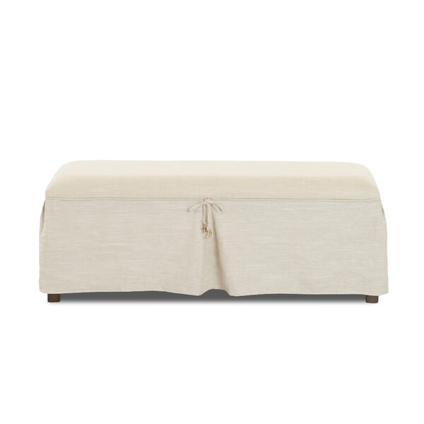 Kaylani Moon and Star Motif Upholstered Bench by Gracie Oaks