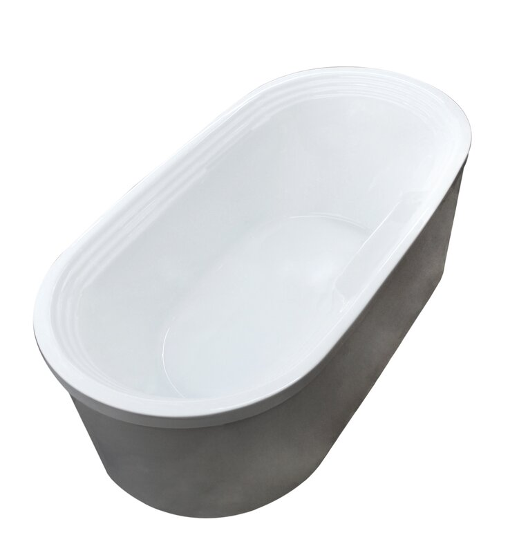 Oval Freestanding Soaker Bathtub