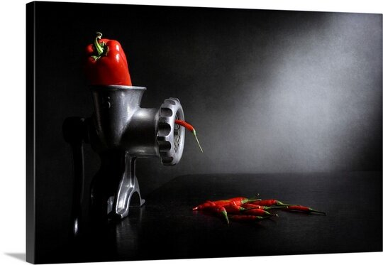 Red and Hot by Victoria Ivanova Photographic Print on Canvas by Canvas On Demand