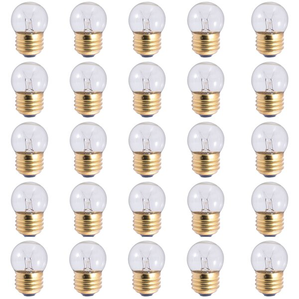 7.5W E26 Dimmable Incandescent Light Bulb (Set of 25) by Bulbrite Industries