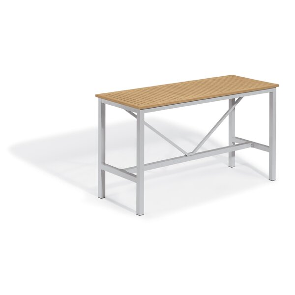 Maclin Aluminum Bar Table by Latitude Run