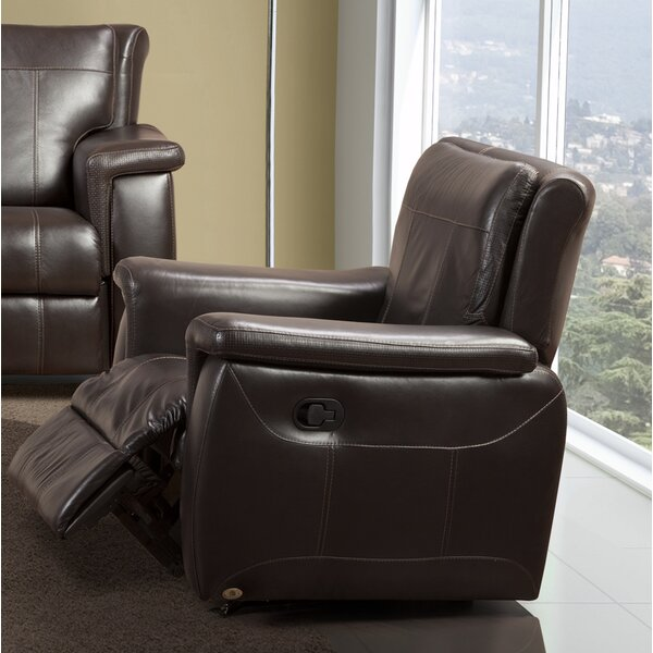 Lido Leather Manual Rocker Recliner By Fornirama