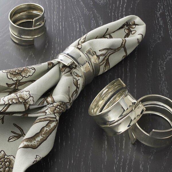 Silver Napkin Rings (Set of 4) by Wade Logan