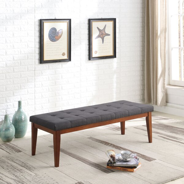 Dante Mid-Century Upholstered Bench by Gracie Oaks