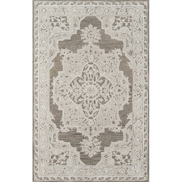 Paisley Hand-Tufted Gray Area Rug by House of Hampton